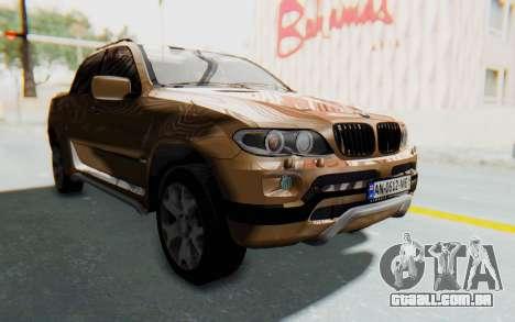 BMW X5 Pickup para GTA San Andreas vista direita