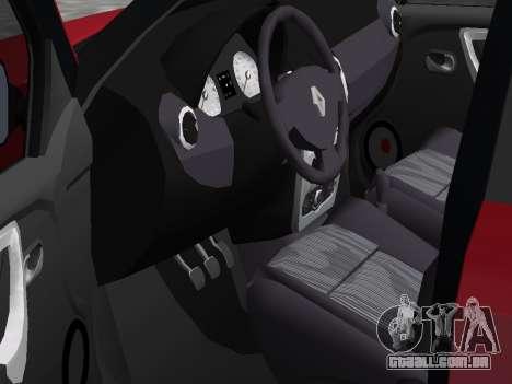 Renault Logan para GTA Vice City vista traseira esquerda