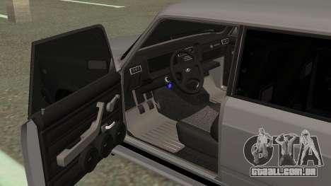 VAZ 2107 Deriva para GTA San Andreas vista traseira