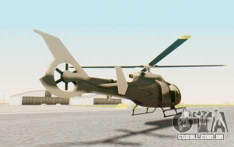 GTA 5 Maibatsu Frogger Civilian para GTA San Andreas traseira esquerda vista