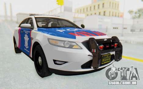 Ford Taurus Indonesian Traffic Police para GTA San Andreas traseira esquerda vista