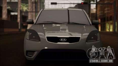 Kia Rio para GTA San Andreas vista superior