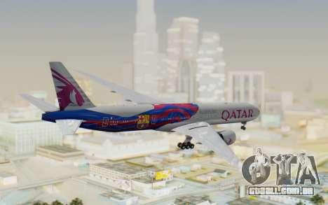Boeing 777-300ER Qatar Airways v2 para GTA San Andreas vista direita
