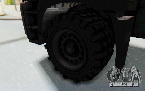 GTA 5 HVY Brickade IVF para GTA San Andreas vista traseira