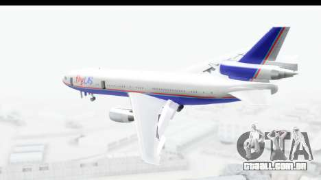 DC-10 Fly Us para GTA San Andreas esquerda vista