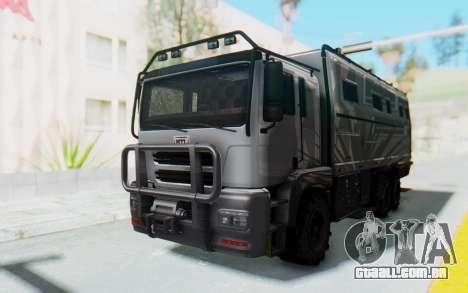 GTA 5 HVY Brickade IVF para GTA San Andreas vista direita