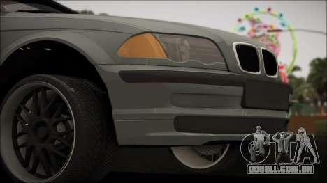 BMW E46 para GTA San Andreas vista direita