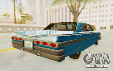 GTA 5 Declasse Voodoo PJ para GTA San Andreas traseira esquerda vista
