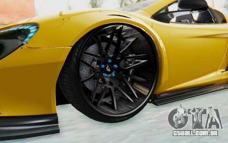 McLaren 650S Spyder ZenWorks para GTA San Andreas vista traseira