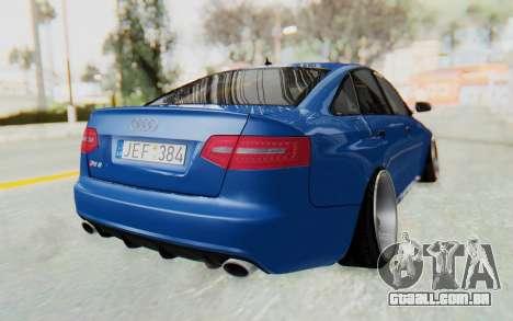 Audi RS6 para GTA San Andreas vista direita