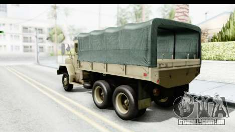 AM General M35A2 Sand para GTA San Andreas esquerda vista