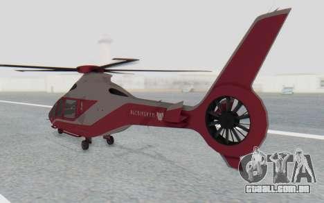 GTA 5 Buckingham Volatus v1 para GTA San Andreas traseira esquerda vista