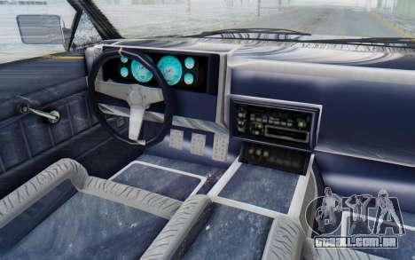 GTA 5 Willard Faction Custom Donk v3 IVF para GTA San Andreas vista interior