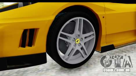 Ferrari F430 SVR para GTA San Andreas vista traseira