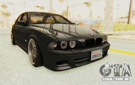 BMW M5 E39 M-Tech USDM para GTA San Andreas vista direita