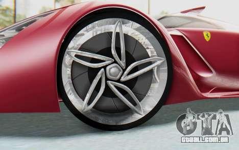 Ferrari F80 Concept para GTA San Andreas vista interior