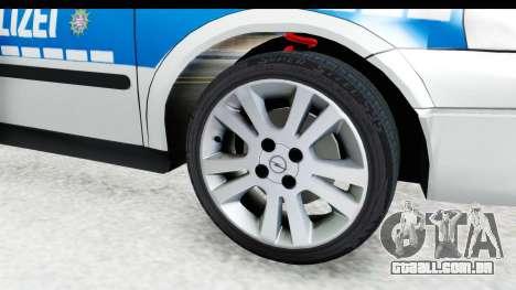 Opel Astra G Variant Polizei Hessen para GTA San Andreas vista traseira