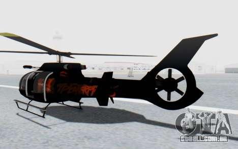 GTA 5 Maibatsu Frogger Trevor IVF para GTA San Andreas traseira esquerda vista