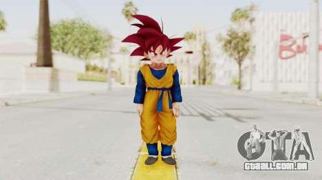 Dragon Ball Xenoverse Goten SSG para GTA San Andreas segunda tela