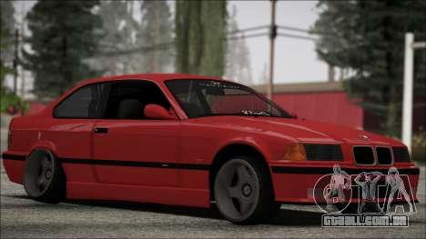 BMW E36 Stance para GTA San Andreas esquerda vista