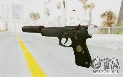 Tariq Iraqi Pistol Back v1 Black Silenced para GTA San Andreas segunda tela
