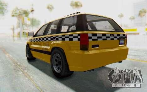 Canis Seminole Taxi para GTA San Andreas traseira esquerda vista