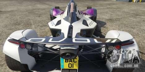 GTA 5 BAC Mono traseira vista lateral esquerda