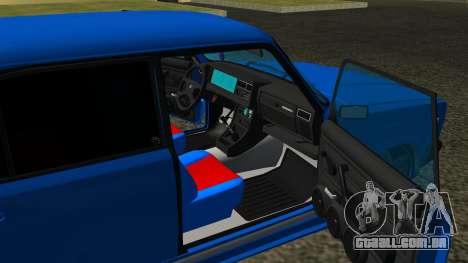 VAZ 2107 Esporte para vista lateral GTA San Andreas
