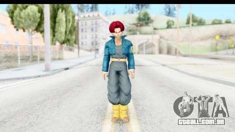 Dragon Ball Xenoverse Future Trunks SSG para GTA San Andreas segunda tela