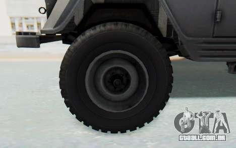 UAZ-460Б para GTA San Andreas vista traseira
