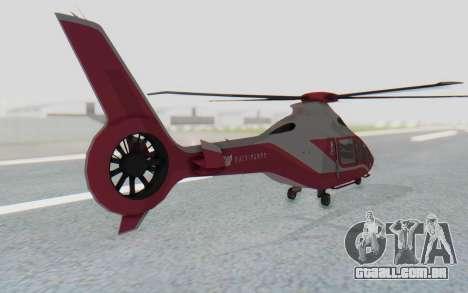 GTA 5 Buckingham Volatus v2 para GTA San Andreas traseira esquerda vista
