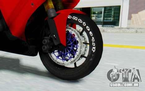 Yamaha YZF-R1 para GTA San Andreas vista traseira