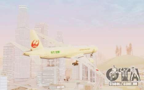 Boeing 777-300ER Japan Airlines v1 para GTA San Andreas esquerda vista