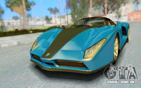 GTA 5 Grotti Cheetah SA Lights para GTA San Andreas esquerda vista