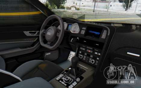 Audi RS6 para GTA San Andreas vista interior