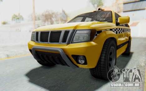 Canis Seminole Taxi para GTA San Andreas vista direita