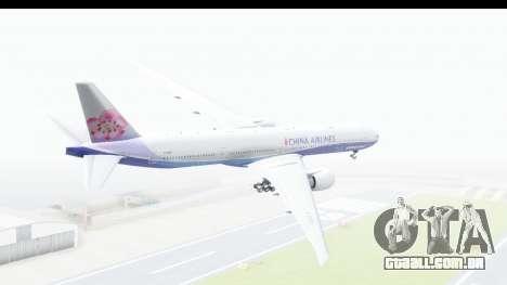 Boeing 777-300ER China Airlines Dreamliner para GTA San Andreas esquerda vista