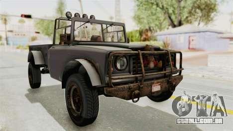 GTA 5 Canis Bodhi Trevor para GTA San Andreas vista direita