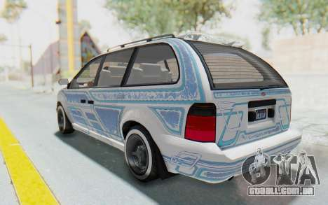 GTA 5 Vapid Minivan Custom para GTA San Andreas vista superior
