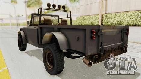 GTA 5 Canis Bodhi Trevor IVF para GTA San Andreas traseira esquerda vista
