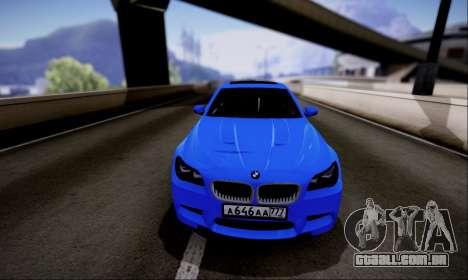 BMW M5 F10 G-Power para GTA San Andreas traseira esquerda vista