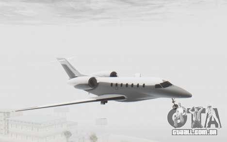 GTA 5 Buckingham Nimbus para GTA San Andreas traseira esquerda vista