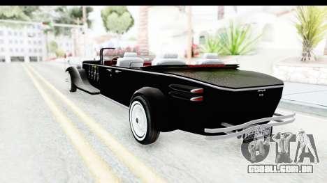 Unique V16 Phaeton VIP para GTA San Andreas traseira esquerda vista