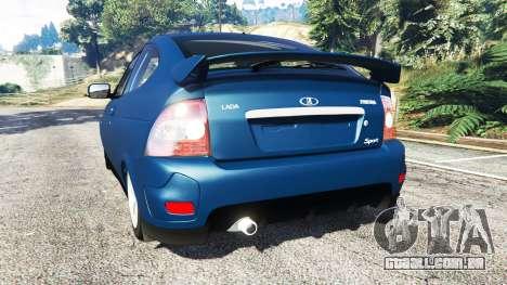 GTA 5 Lada Priora Sport Coupe v0.1 traseira vista lateral esquerda