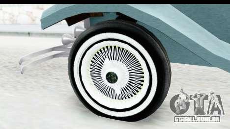 Unique V16 Fordor para GTA San Andreas vista traseira