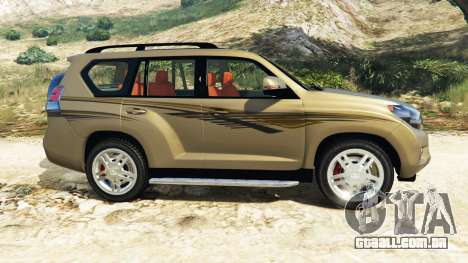 GTA 5 Toyota Land Cruiser Prado 2012 vista lateral esquerda