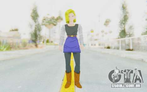 Dragon Ball Xenoverse Android 18 No Jacket para GTA San Andreas segunda tela