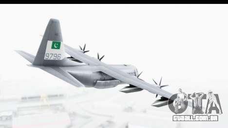 C-130 Pakistan para GTA San Andreas vista direita