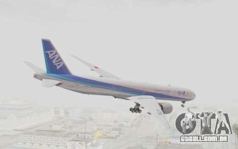 Boeing 777-300ER ANA JA735A para GTA San Andreas esquerda vista