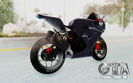 Kawasaki Ninja 250R Streetrace v2 para GTA San Andreas esquerda vista